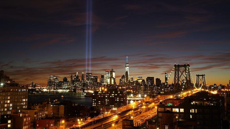 Skyline New York City bei Nacht