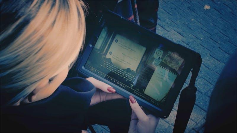 Opolum Outdoor Escape Game mit Tablet