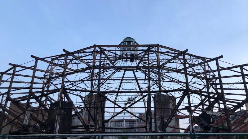 Denkmalgeschützte Stahlkonstruktion der Schilleroper